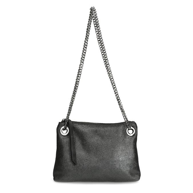 Kožená Crossbody kabelka s řetízkem bata, stříbrná, 964-1602 - 26