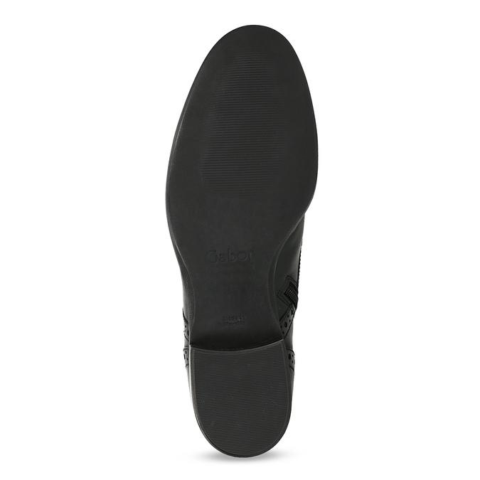 Kotníčková dámská obuv s Brogue zdobením gabor, černá, 624-6031 - 18