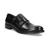 Pánské kožené Monk shoes černé bata, černá, 824-6632 - 13