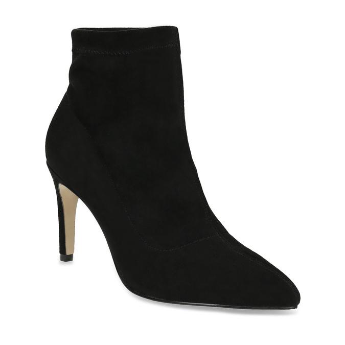 Kotníčkové dámské kozačky na jehlovém podpatku bata, černá, 799-6620 - 13