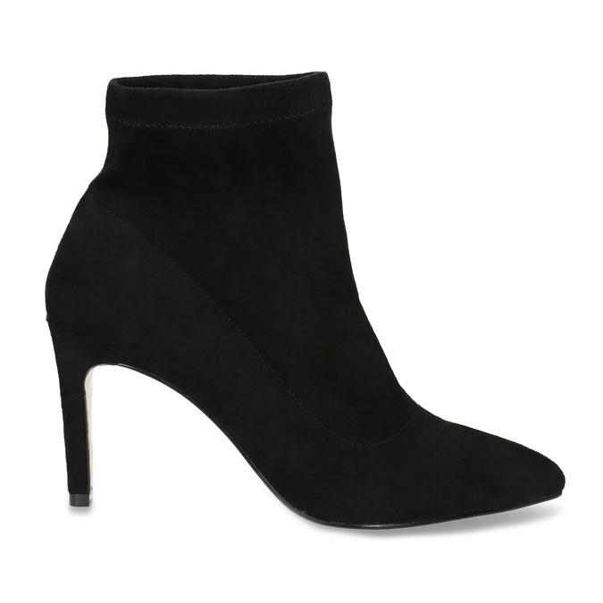 Kotníčkové dámské kozačky na jehlovém podpatku bata, černá, 799-6620 - 19