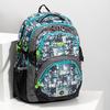 Školní batoh šedo-modrý bagmaster, zelená, 969-7717 - 17