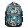 Školní batoh šedo-modrý bagmaster, zelená, 969-7717 - 26