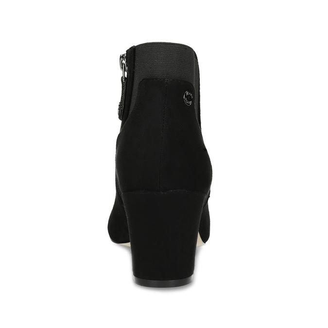 Dámská černá kotníčková obuv na podpatku bata, černá, 799-6625 - 15