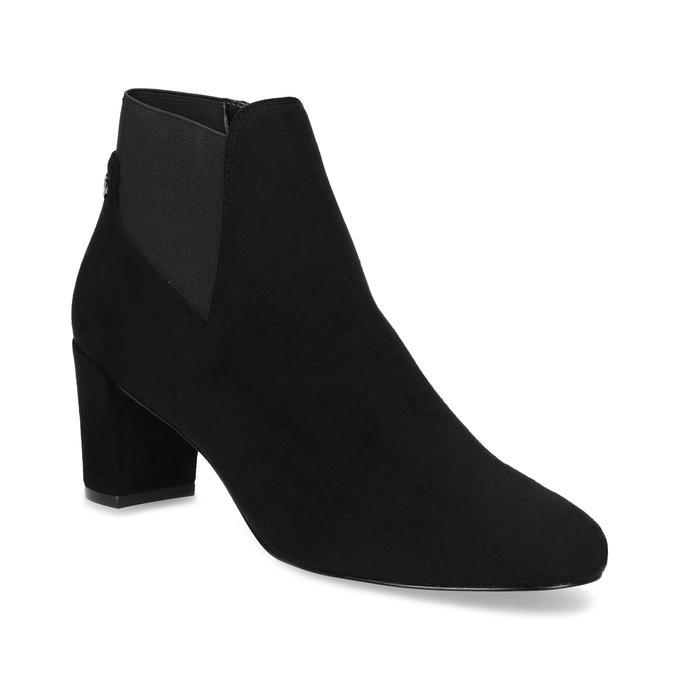 Dámská černá kotníčková obuv na podpatku bata, černá, 799-6625 - 13