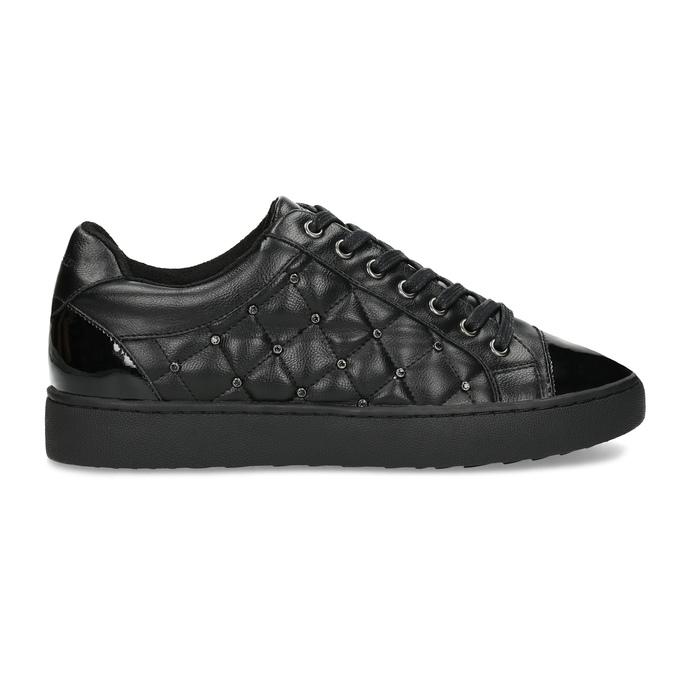 Dámské prošívané tenisky černé bata-light, černá, 541-6603 - 19