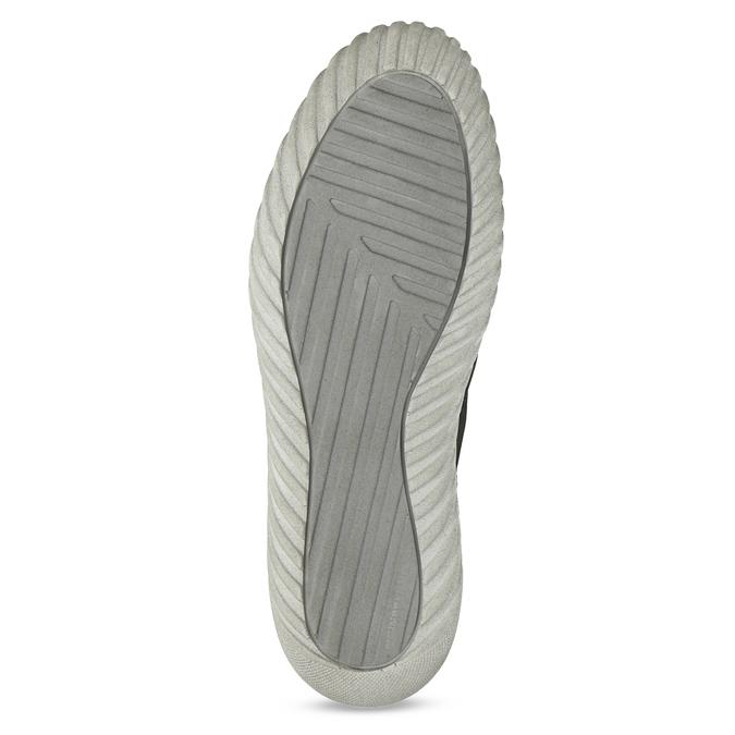 Kotníčkové kožené tenisky s prošitím weinbrenner, šedá, 846-6720 - 18