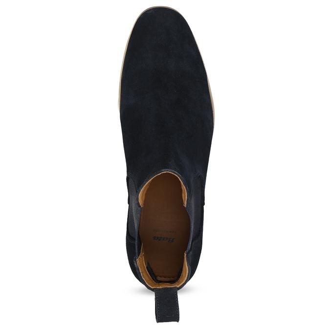 Tmavě modrá kožená pánská Chelsea obuv bata, modrá, 823-9614 - 17