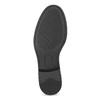 Černé dámské kožené polobotky bata, černá, 524-6666 - 18
