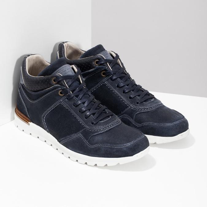 Tmavě modré kožené tenisky bata, modrá, 846-9717 - 26