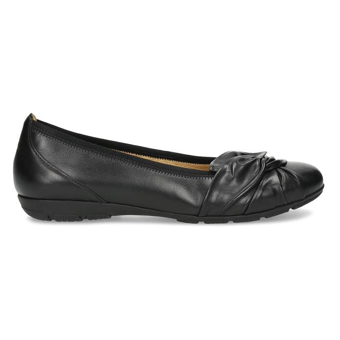 Černé kožené dámské baleríny gabor, černá, 524-6048 - 19