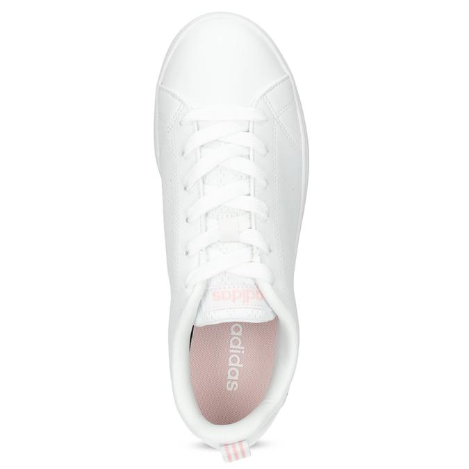 Bílé dámské tenisky s perforací adidas, bílá, 501-1800 - 17