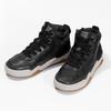 Kožená kotníčková obuv chlapecká geox, černá, 326-6007 - 16