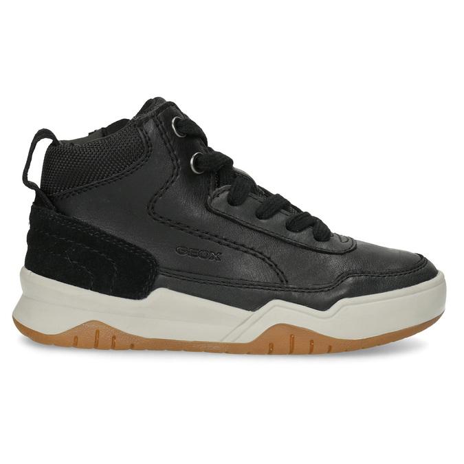 Kožená kotníčková obuv chlapecká geox, černá, 326-6007 - 19