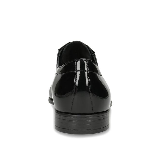 Pánské kožené polobotky černé lesklé conhpol, černá, 828-6609 - 15