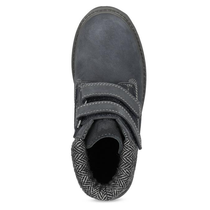 Dětská kožená kotníčková obuv na suché zipy weinbrenner, modrá, 216-9201 - 17