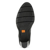 Dámské kožené polobotky na podpatku flexible, černá, 724-6653 - 18