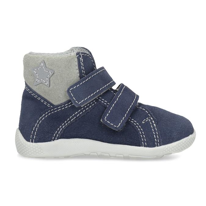 Dětská kožená kotníčková obuv bubblegummers, modrá, 113-9612 - 19
