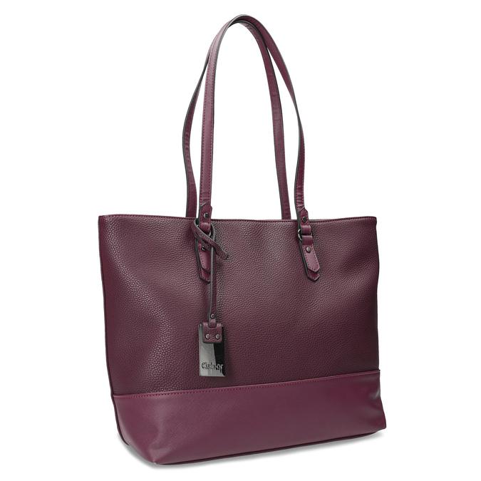 Vínová kabelka shopper bag gabor-bags, červená, 961-5060 - 13
