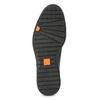 Pánské kožené polobotky černé flexible, černá, 824-6766 - 18