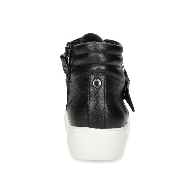 Dámské kotníčkové tenisky černé bata-light, černá, 591-6630 - 15