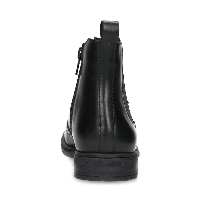 Dětská kožená Chelsea obuv mini-b, černá, 394-6425 - 15