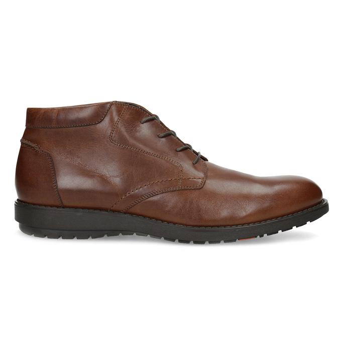 Kotníčková kožená pánská obuv hnědá flexible, hnědá, 896-4707 - 19