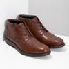 Kotníčková kožená pánská obuv hnědá flexible, hnědá, 896-4707 - 26