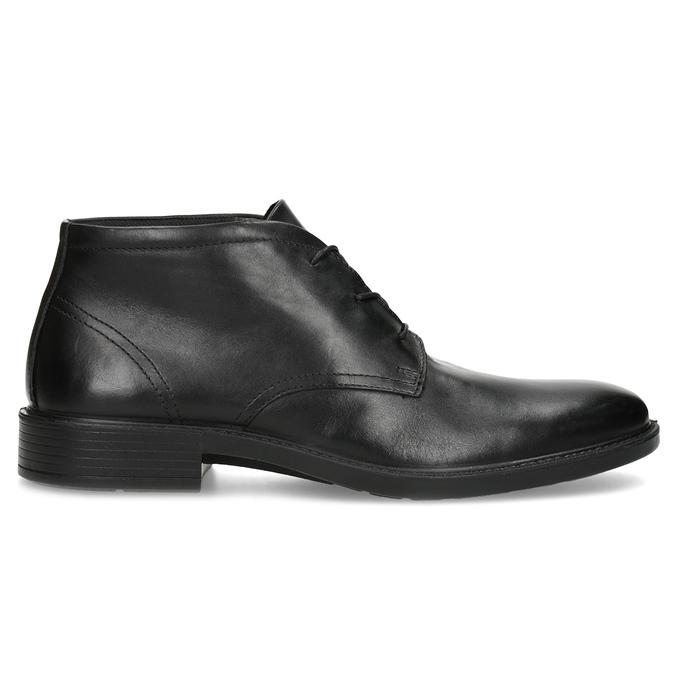 Kožená kotníčková obuv černá pánská hladká comfit, černá, 824-6822 - 19