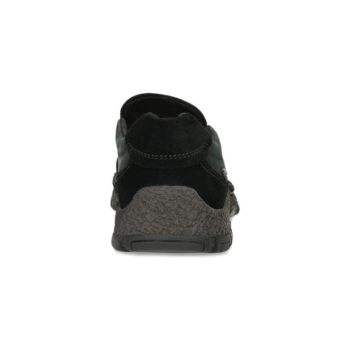 Kožená pánská Slip-on obuv s prošitím, černá, 816-6011 - 15