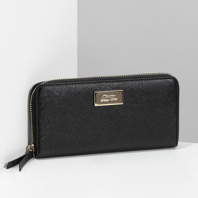 Černá dámská peněženka na zip bata, černá, 941-6223 - 17