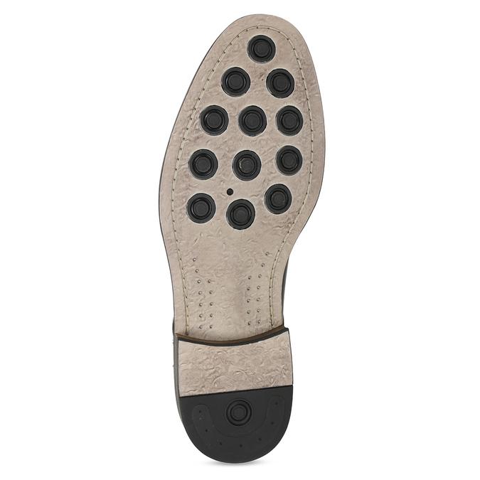 Hnědé kožené polobotky v Derby stylu bata, hnědá, 826-4787 - 18