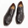 Hnědé kožené polobotky v Oxford stylu bata, hnědá, 826-4785 - 16