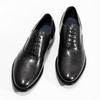 Pánské černé kožené Oxford polobotky bata, černá, 824-6615 - 16