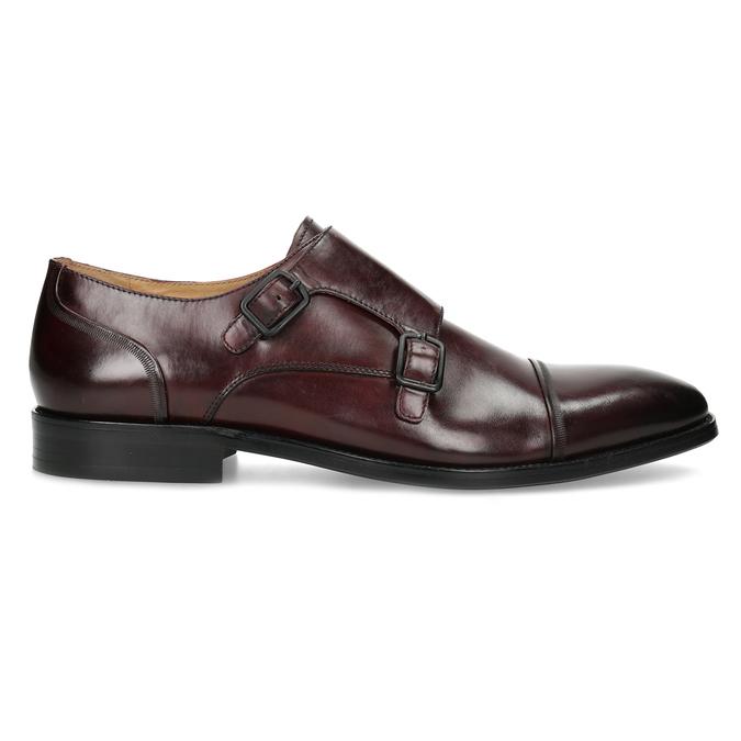 Pánské kožené Monk Shoes polobotky bata, červená, 826-5738 - 19