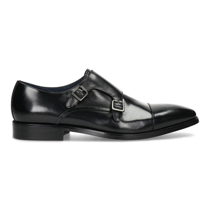 Pánské kožené Monk Shoes polobotky bata, černá, 824-6613 - 19