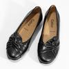 Černé kožené dámské baleríny gabor, černá, 524-6048 - 16