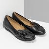 Černé kožené dámské baleríny gabor, černá, 524-6048 - 26