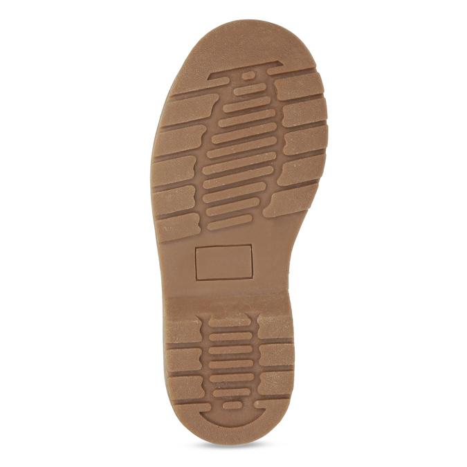 Dětská kotníčková obuv s květinovým vzorem mini-b, hnědá, 321-8620 - 18