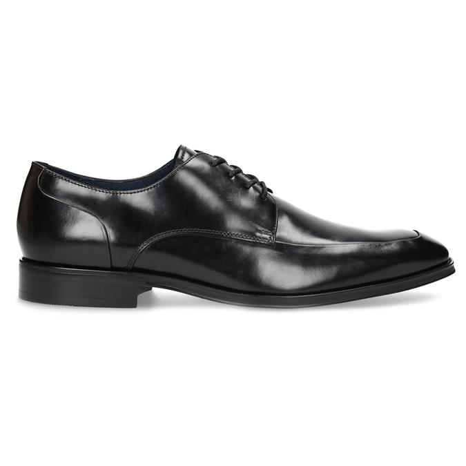 Černé kožené polobotky v Derby stylu bata, černá, 824-6784 - 19
