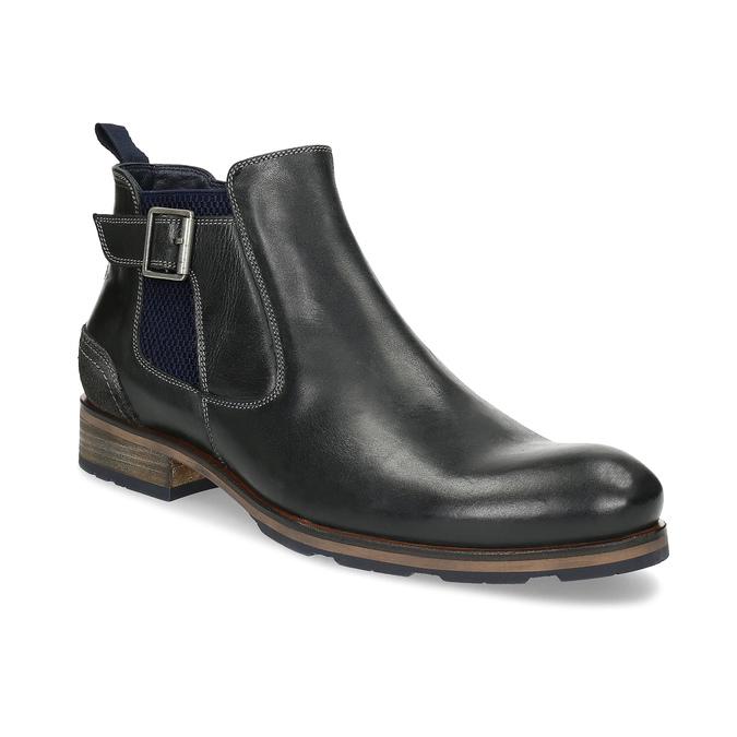 Černá kožená Chelsea obuv s přezkou bata, černá, 826-6781 - 13