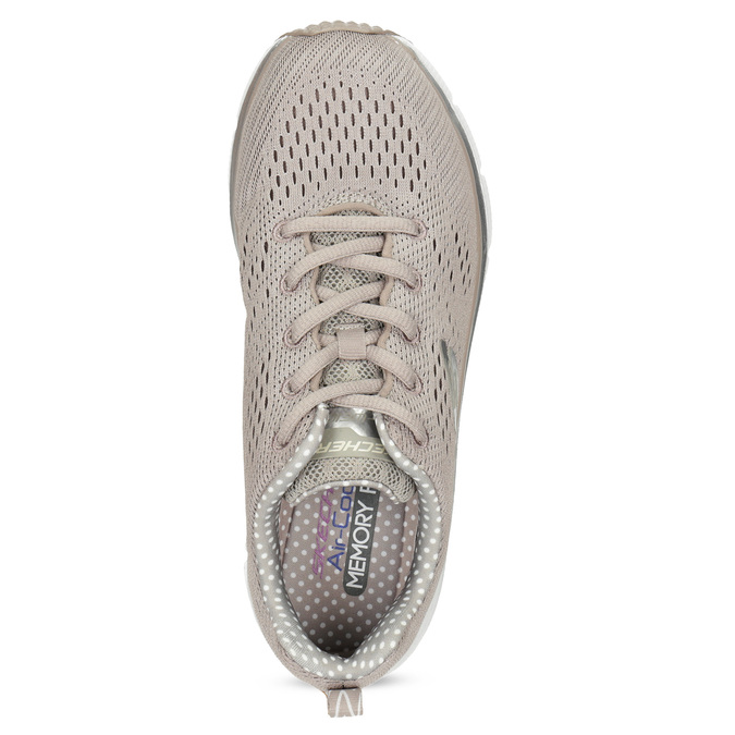 Béžové dámské sportovní tenisky skechers, béžová, 509-8142 - 17