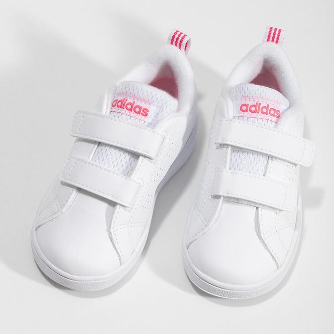 Bílé dětské tenisky s perforací na suché zipy adidas, bílá, 101-5133 - 16