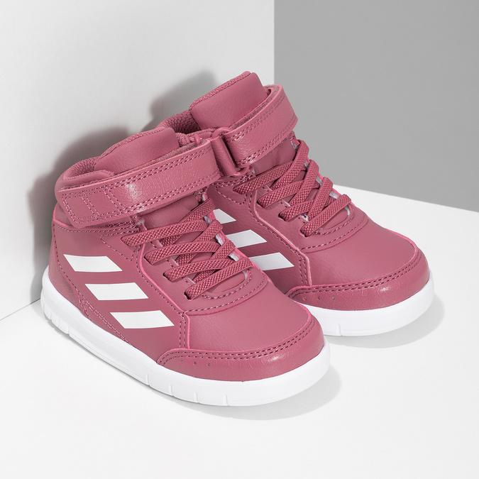 Růžové kotníčkové dětské tenisky adidas, růžová, 101-5220 - 26