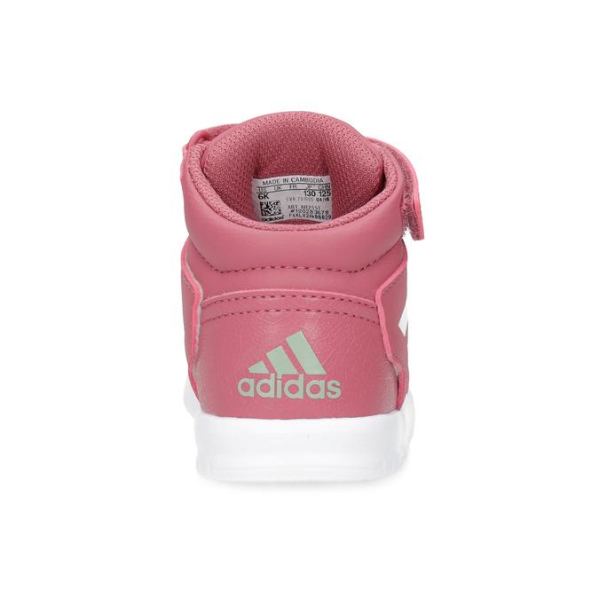 Růžové kotníčkové dětské tenisky adidas, růžová, 101-5220 - 15