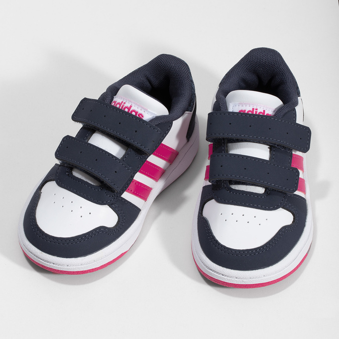 Bílé dětské tenisky na suché zipy adidas, vícebarevné, 101-1194 - 16