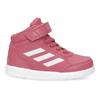 Růžové kotníčkové dětské tenisky adidas, růžová, 101-5220 - 19