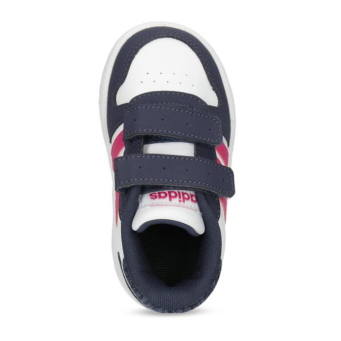 Bílé dětské tenisky na suché zipy adidas, vícebarevné, 101-1194 - 17