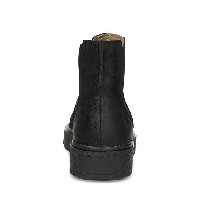Kotníčková kožená dámská Chelsea obuv bata, černá, 596-6713 - 15