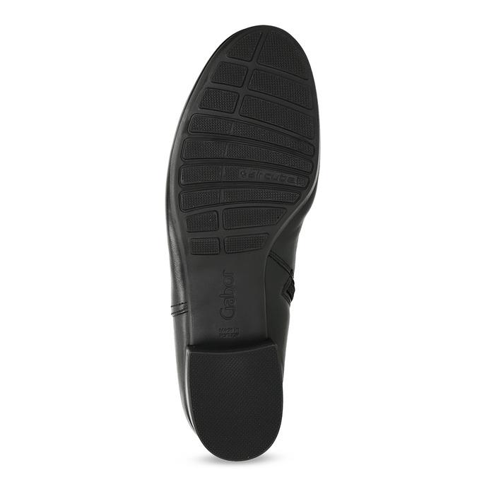 Dámské kožené černé kotníčkové kozačky gabor, černá, 614-6049 - 18